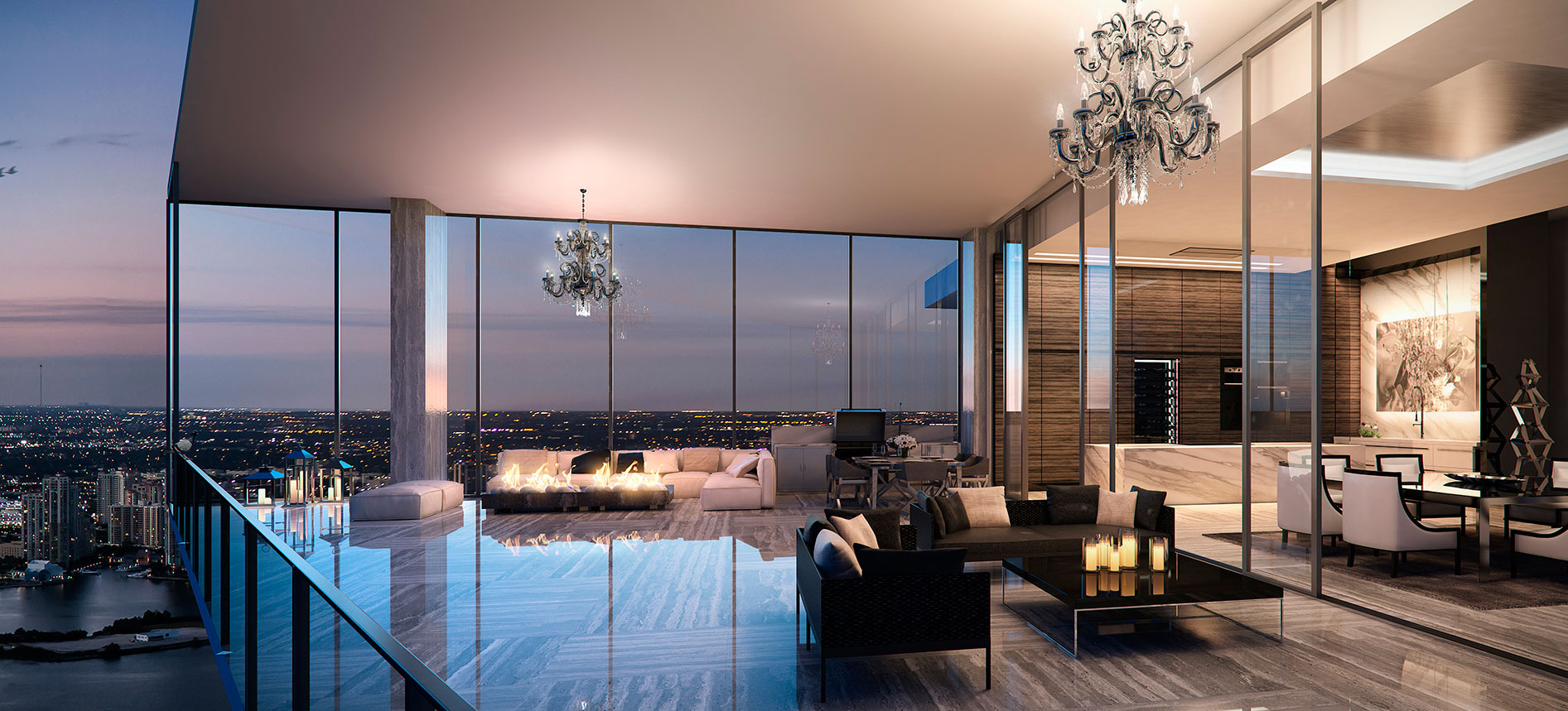 7 luxury condos in florida with expansive balconies for Luxury balcony design
