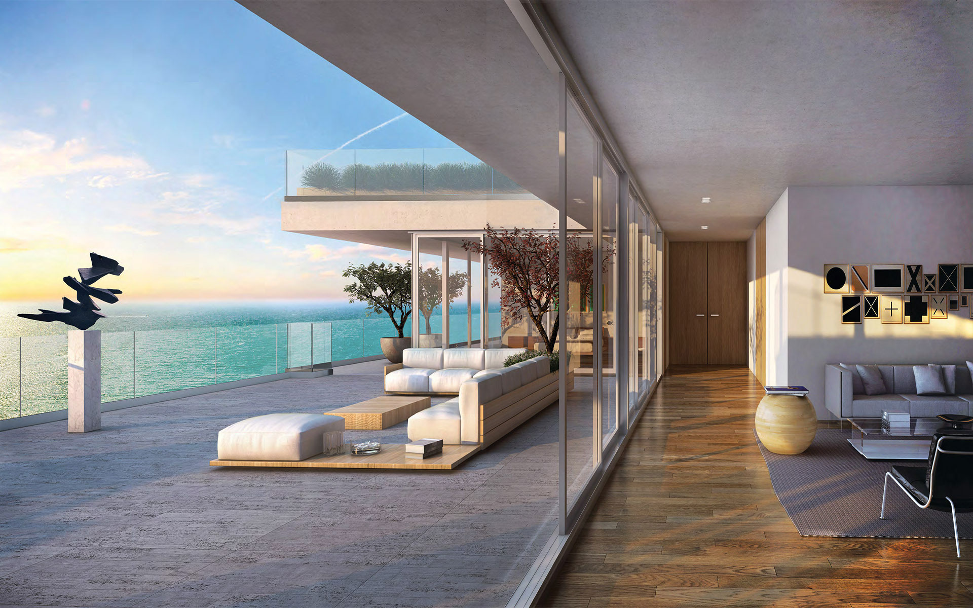 7 luxury condos in florida with expansive balconies for Balcony balcony