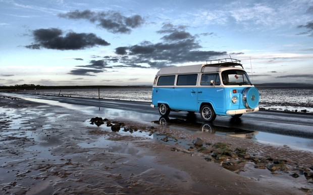 Blue Holy Island Travel Campervan Road Explore