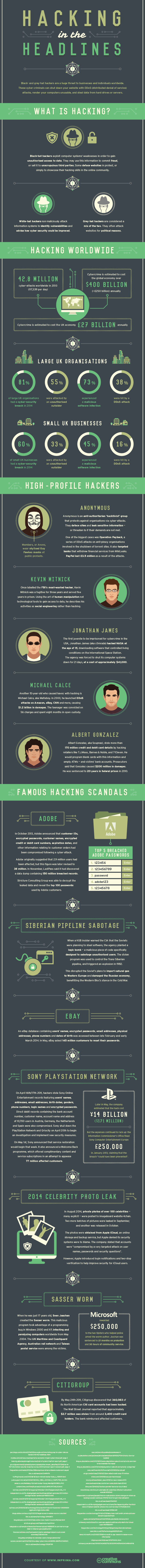 Infographic - hacking in the headlines